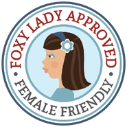 Foxy Lady Approved Female Friendly Garage Logo